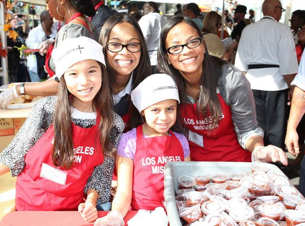 Never too young to volunteer. Los Angeles Mission.