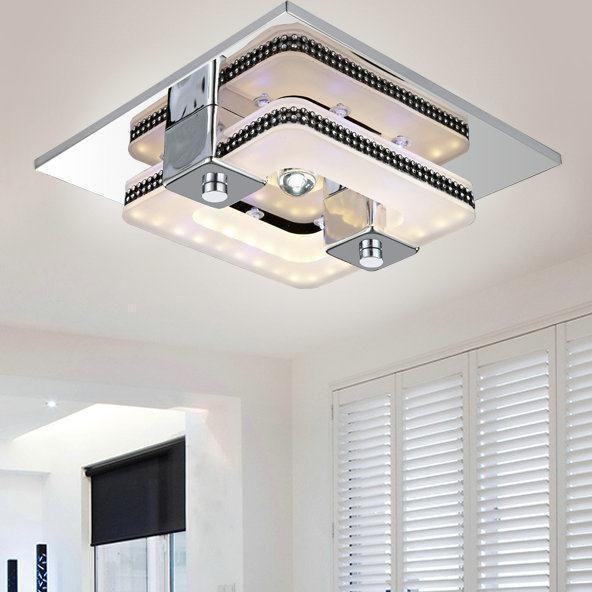 LED Modern Ceiling Light Plafon Stainless Steel Luminaria Aisle Balcony Lamp  Novelty Lights Lustres De Sala