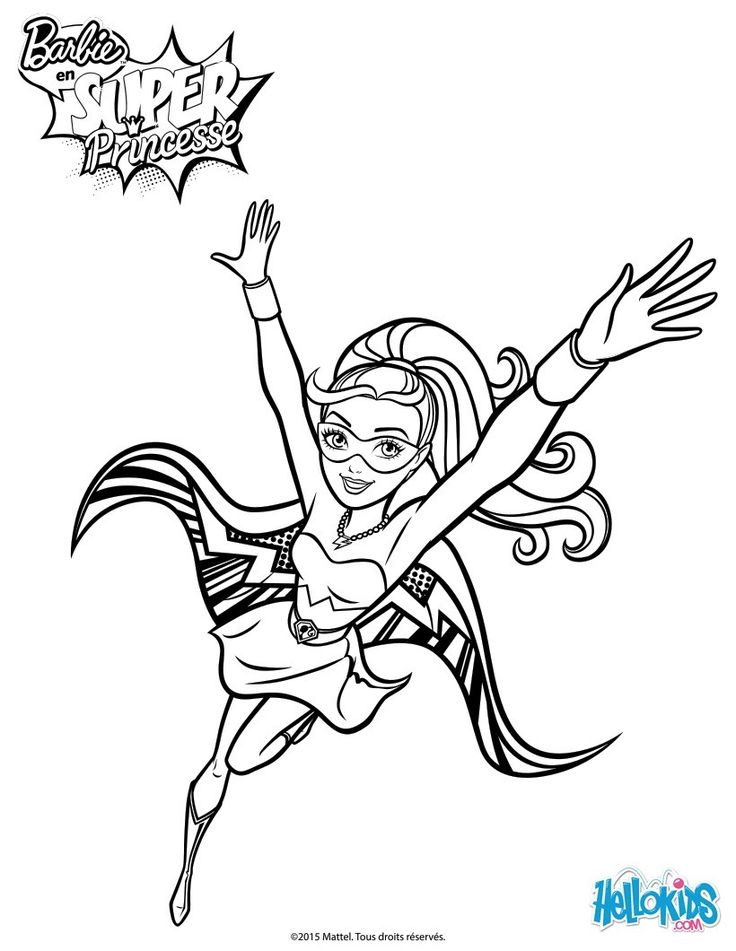 Be The First To Offer Most Beautiful Barbie Super Power 4 Printable Your Friend You Will Find Lots Of Them In Princess Coloring