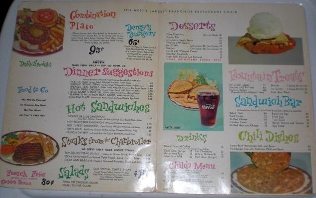 Vintage Denny's Restaurant Menu, interior by emeraldtoys, via Flickr
