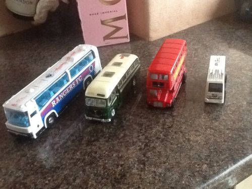 Job lot 4 #buses coaches #diecast/plastic  toys rangers fc #,london rm ,bedford,  View more on the LINK: 	http://www.zeppy.io/product/gb/2/172521577044/