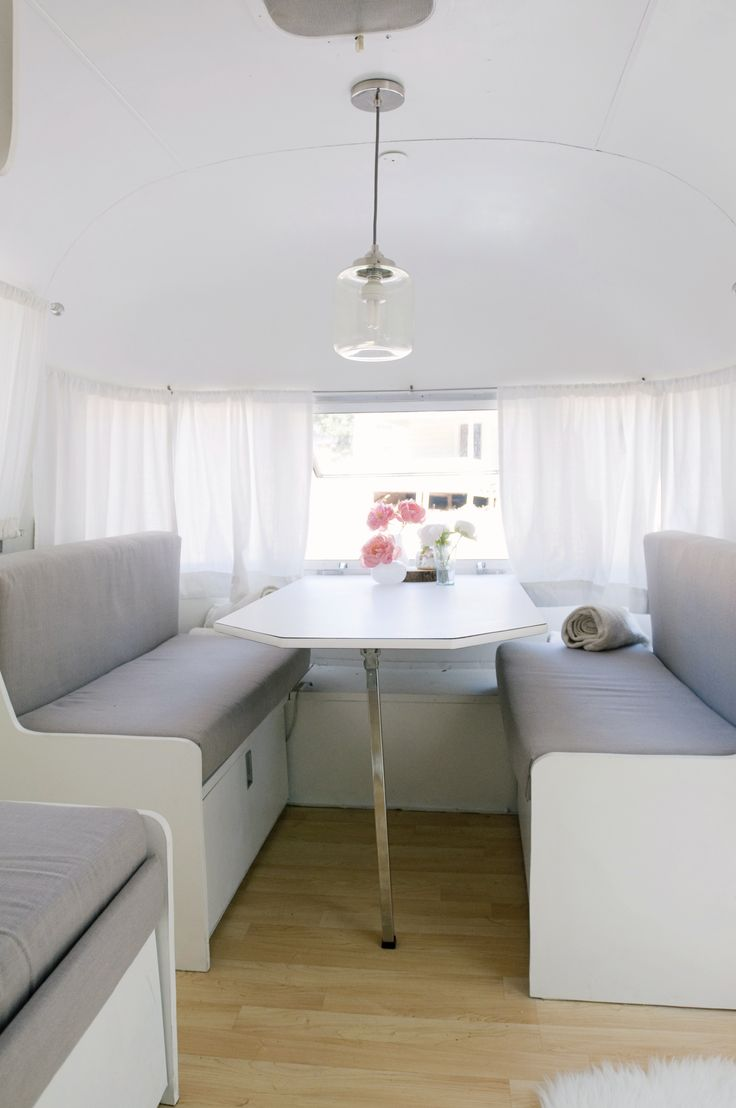 Inside our Airstream #modern Photo by: Angie Silvy Photography