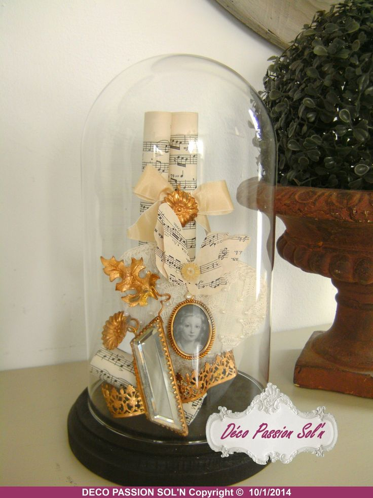 912 best decor bell jars cloches images on pinterest for Cloche verre decorative