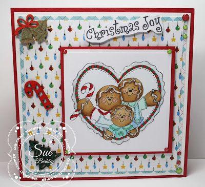 ONECRAZYSTAMPER.COM: Christmas Joy by Sue