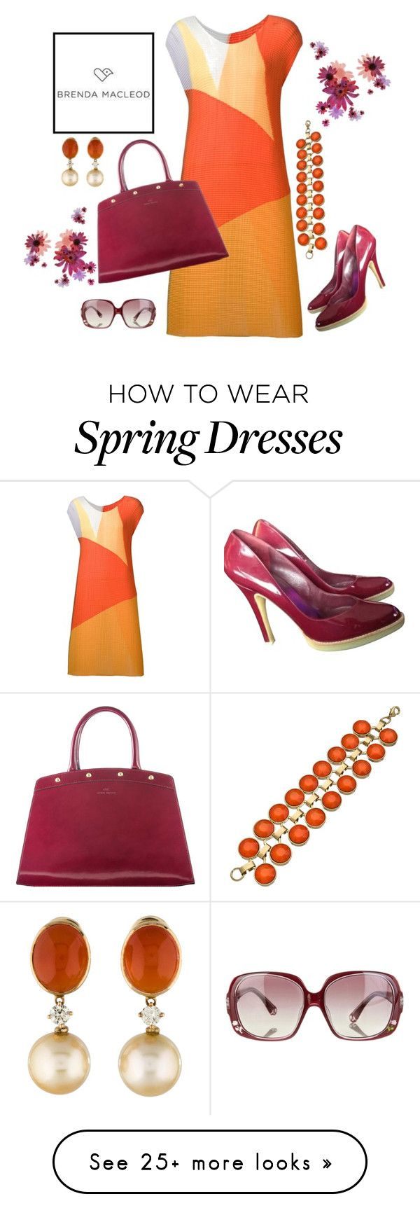 """""""spring with BRENDA MACLEOD"""" by kimzarad1 on Polyvore featuring Issey Miyake, Gucci, Danielle Stevens, Fendi, women's clothing, women, female, woman, misses and juniors"""