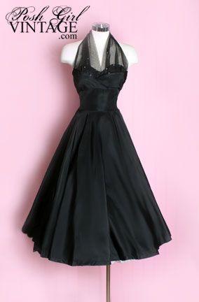 Love the '50 dresses: Little Dresses, Cocktails Dresses, 1950S Dresses, Dresses Vintage, Evening Gowns, Little Black Dresses, 1950 S, Black Evening Dresses, 1950S Classic