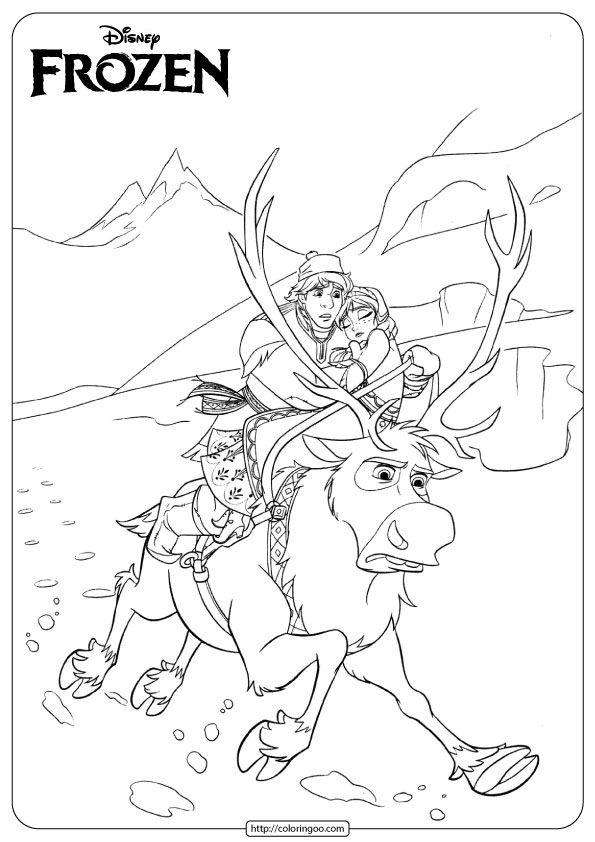 Frozen Anna Kristoff Coloring Pages Frozen Coloring Frozen Coloring Pages Elsa Coloring Pages