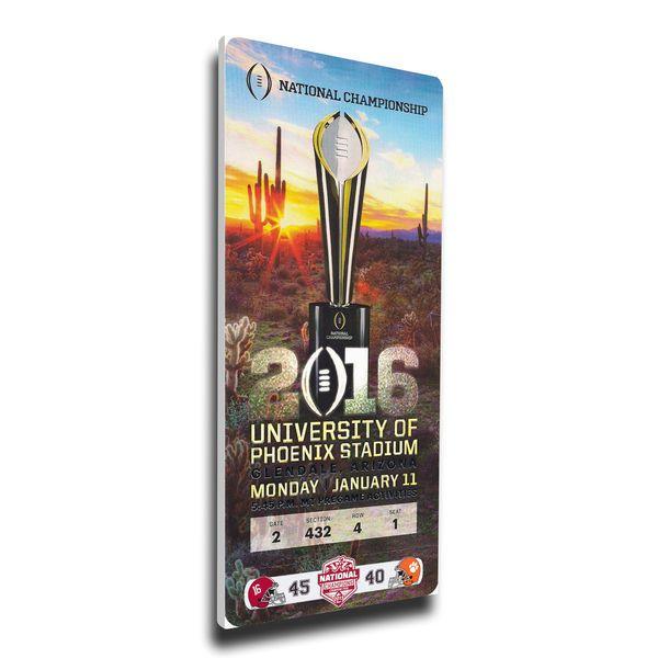 Alabama Crimson Tide College Football Playoff 2015 National Champions Mega Ticket - $84.99