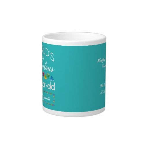 #60th #Birthday Most Fabulous Colorful Gem Turquoise Jumbo #Mug