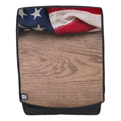 Vintage American Flag Border Backpack - vintage gifts retro ideas cyo