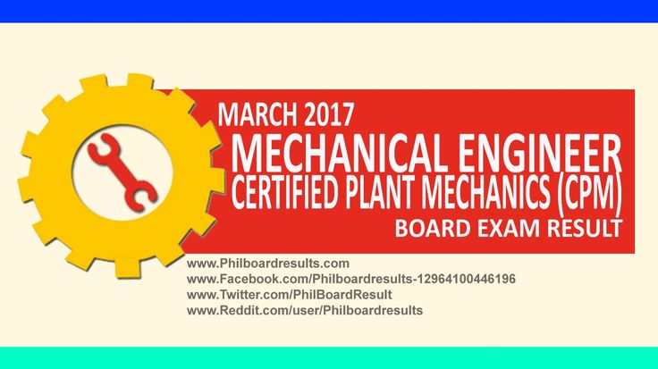 LIST OF PASSERS: March 2017 Mechanical Engineers ME Board Exam Result | PhilBoardResults