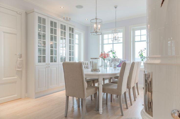 Kjøkkenet i en variant av husmodellen Ladegaard fra BoligPartner.