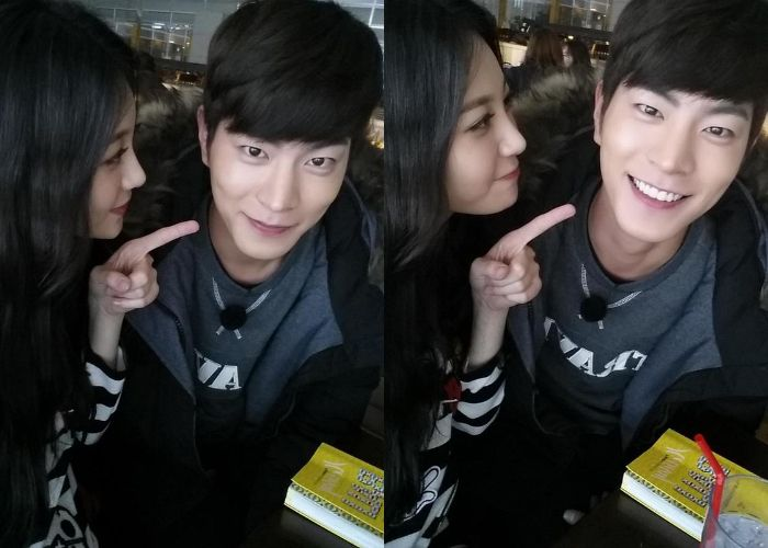 Hong Jong Hyun and Girl's Day's Yura Pose for Sweet Couple Selcas Before Heading Off to Bali
