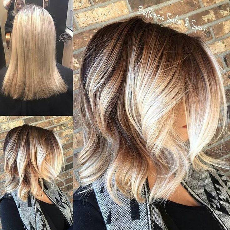 "Starting Level: Level 8 Formula A (roots): Lakme COLLAGE Creme 6.06 + 5.06 + 1/4 oz. 6.40 + 10-vol dev Formula B: PRAVANA Pure Light Lightener + 10-vol Formula C (toner): 1/2 oz. Lakme K-Blonde Toner Pearl + 1/2 oz. Lakme Gloss Rinse Hair Color 0/00 + 13-vol 1. A to base. For depth, balayage base color to her midshaft. 2. B, balayage thru whole head. Process 35 mins. ""blended roots & ends to avoid bleeding & spotting"" 3. Tone using C for 8 min. Rins & Color Care Shampoo."