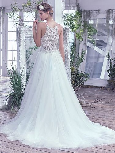 Lace and Tulle Wedding Dress Ballgown by Maggie Sottero available at The Bridal Cottage