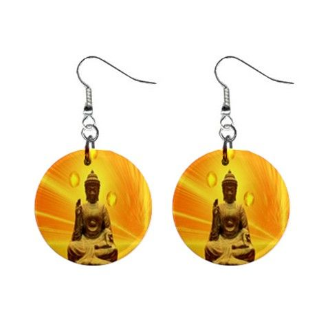 Gautama Buddha, also known as Siddhārtha Gautama, Shakyamuni, or simply the Buddha, was a sage on whose teachings Buddhism was founded Our stylish button earrings are unique, artistic, funky and fun to wear! a pair of button earrings 1 inch diameter Metal shell Mylar/UV protecting cover Fish hook style closure Important: In order to get a perfect button earrings, please leave room for a bleed if with background.