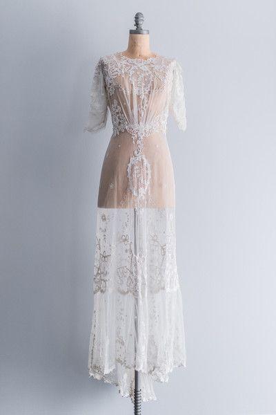 RARE Edwardian Belle Epoque Tammbour Gown | shopgossamer.com