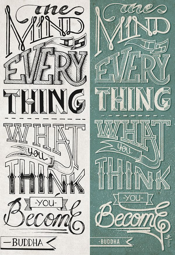Typography work from Miami International University of Art & Design alum Xavier Correa.