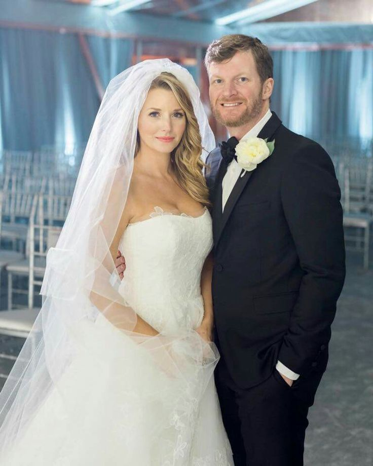 DALE EARNHARDT  JR AND HIS BRIDE