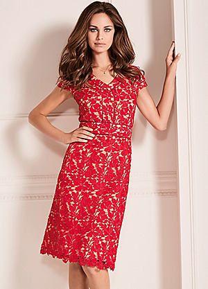 Contrast Lined Lace Dress #kaleidoscope #summer #fashion