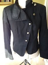 Steampunk style militaire veste noire 10