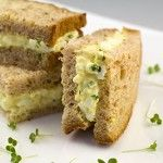 Tea Time Sandwiches - Egg, Mayonnaise & Cress Sandwich  http://www.greedygourmet.com/recipes-by-course/snacks/egg-mayonnaise-cress-sandwich/