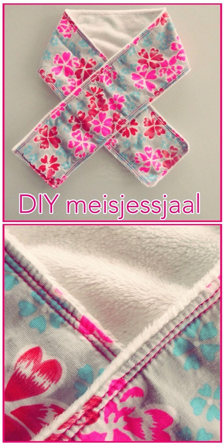 DIY sjaal voor meisjes. DIY girls scarf. #leukmetkids #diy