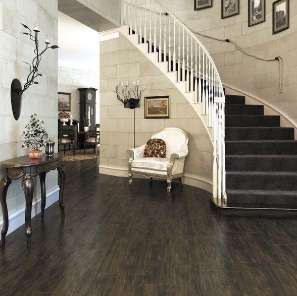 podłoga, schody, ściana