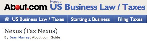 The definition of Nexus (Online Sales Tax Info)