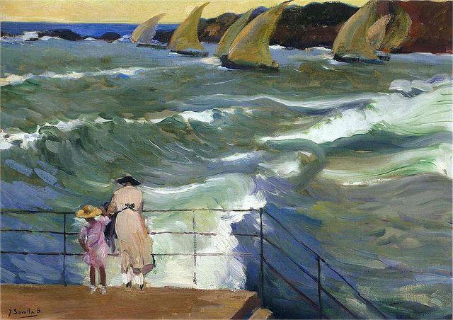 The Waves At San Sebastian--Joaquin Sorolla 1863-1923