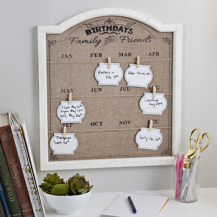 Keeping all your loved ones' birthdays straight can be challenging. The Burlap Birthday Organizer Plaque fixes that, which makes it the perfect Christmas gift for her!
