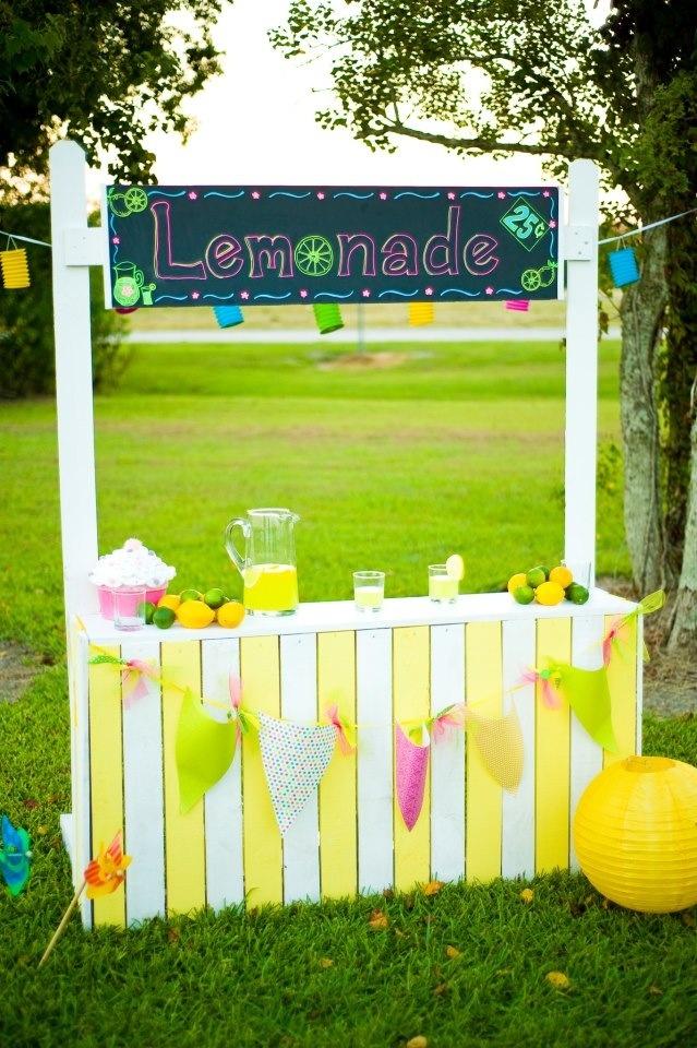 71 best lemonade stands images on pinterest lemonade for Cool lemonade stand ideas