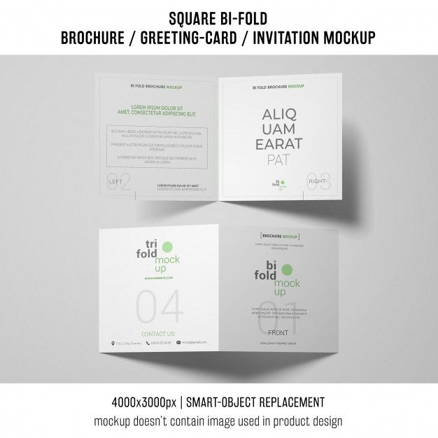 Download Two Square Bi Fold Brochure Or Greeting Card Mockups For Free Bi Fold Brochure Brochure Brochure Design Template