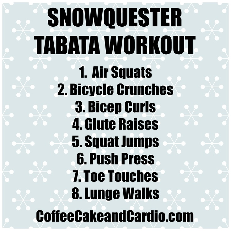 snow storm tabata workout