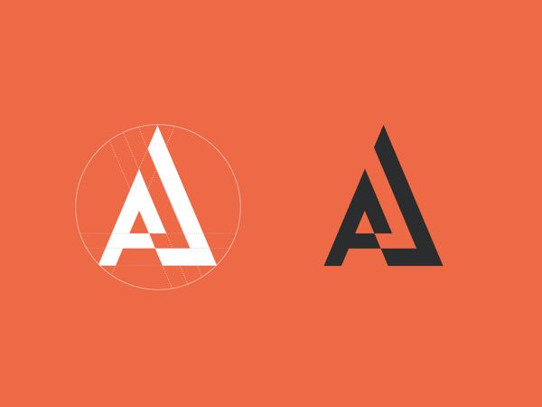 Nice negative space use and overall shape. Geometric. Logo. Brand Identity - Adrien Joulie