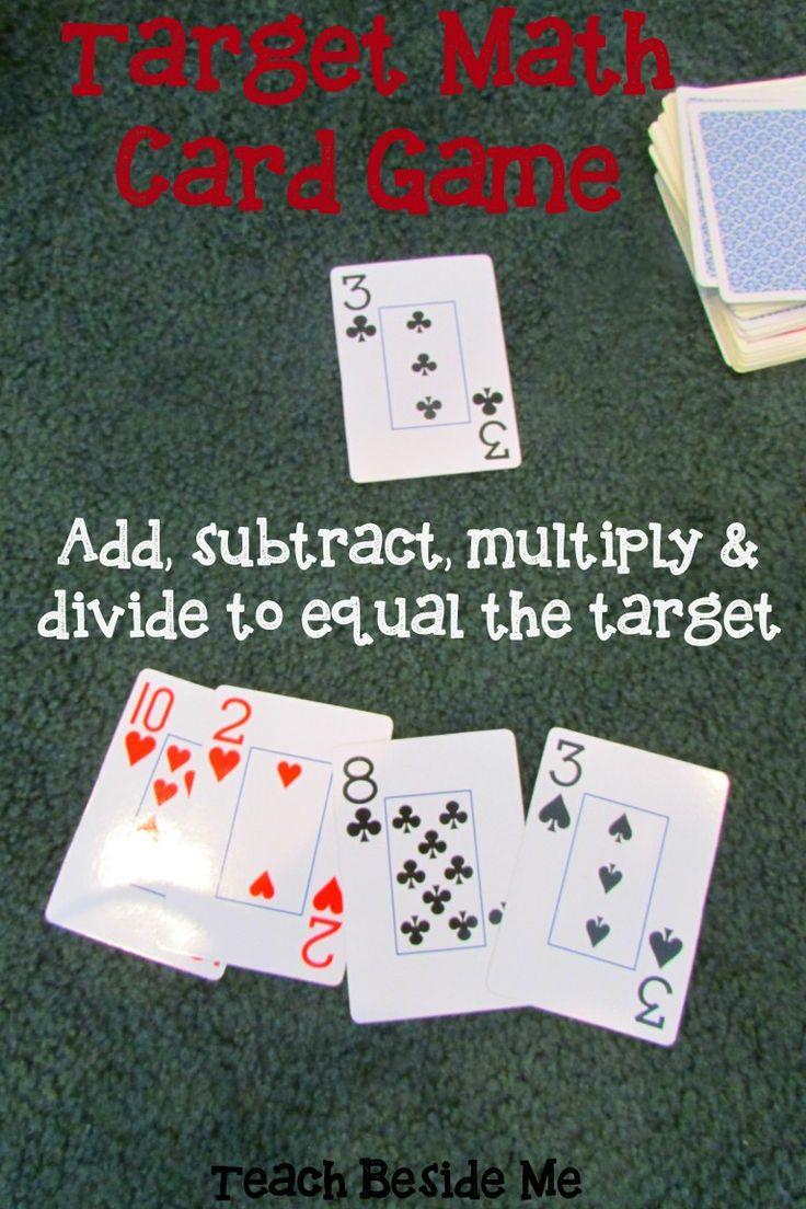 Target Math Card Game