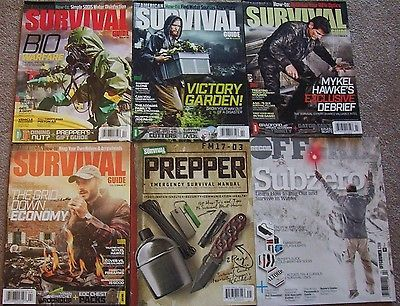 American Survival Guide , Off Grid _  Magazines _ 6 Back Issues _ Grid Down _