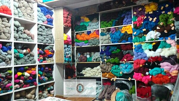 I was extremely happy to find this yarn store in #manalia #Himalaya in #India