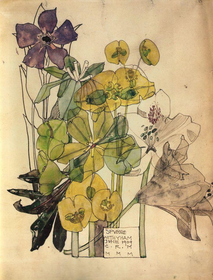 C.R. Mackintosh,Spurge, Withyham, June 1909