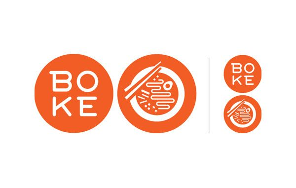 Boke bowl logo in Food logo