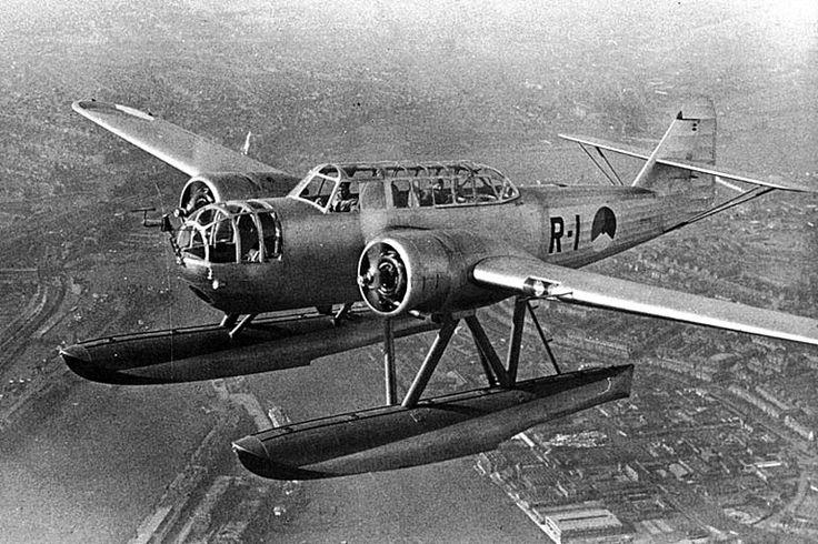 1939 ROYAL DUTH AIRFORCE Fokker T.VIII-W bomber