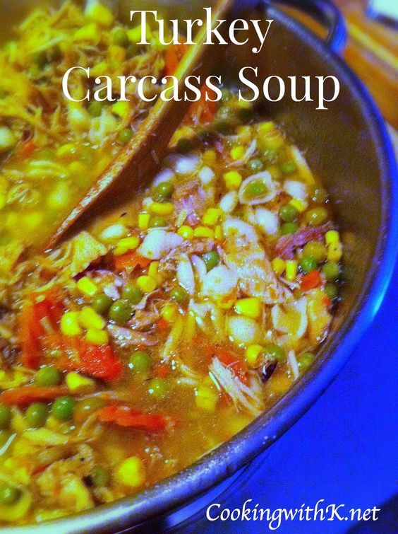Southern | Cooking with K: Turkey Carcass Soup {What to do with Leftover Turkey}#more#more#more