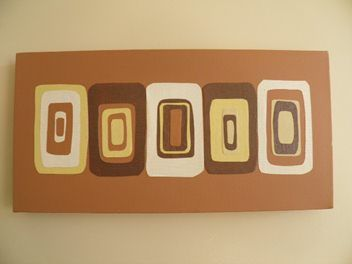 Retro Brown Collage on Canvas
