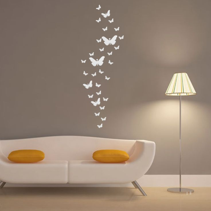 17 best images about muurstickers on pinterest butterfly for Bedroom 3d wall stickers