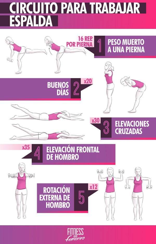 Circuito Para Trabajar Espalda Ejercicios Espalda Ejercicios Ejercicios Para Espalda Mujer
