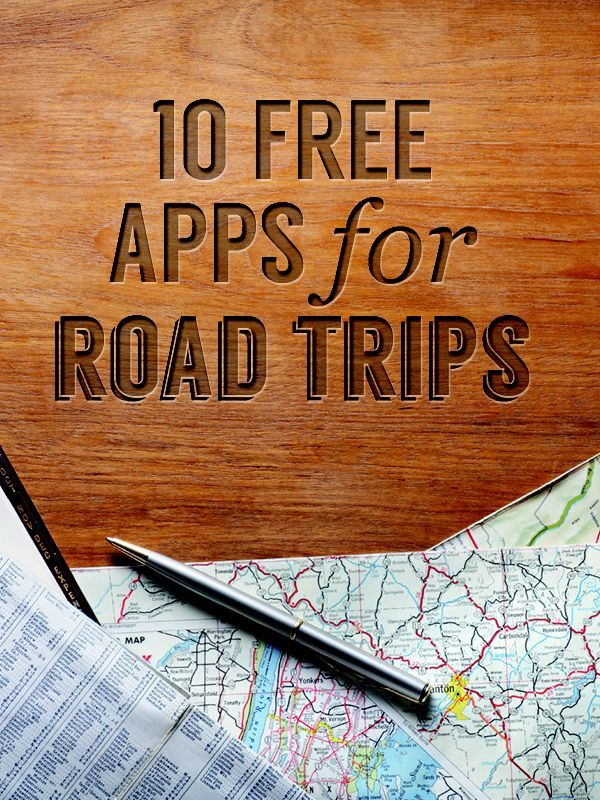 What are these 'apps' they speak of?  Have the perfect road trip with these great free apps.
