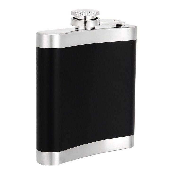 6Oz Stainless Steel Hip Flask Liquor Alcohol Best Man Usher Groom Wedding Gift