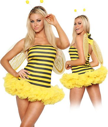 just add me and a snipper and it's a killer bee costume, lol. HALLOWEEN!!!