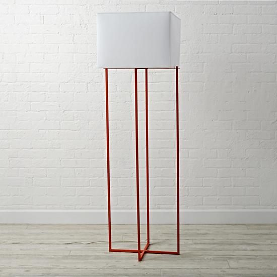 Pop Wire Orange Floor Lamp  | The Land of Nod