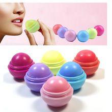 New Fashion 6 cor Bola Enfeite Natural Organic lip balm Rodada lábios Bálsamo Chapstick Lip Care batom bálsamo para os lábios para boca alishoppbrasil